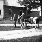 Calvin Coolidge and two sons
