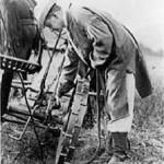 President Coolidge on the farm