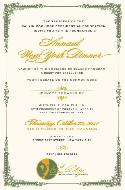 2015 NYC Gala Invitation