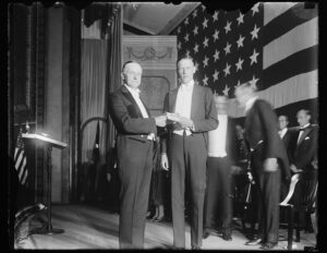 Calvin Coolidge with Charles Lindbergh (Courtesy of the Library of Congress).